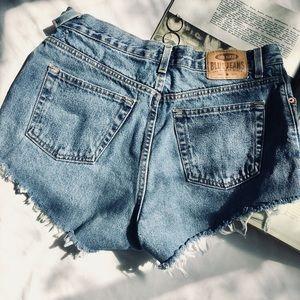 Vintage High Waist Jean Shorts
